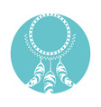 boho style dream catcher vector image vector image