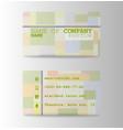 business card elegant design vector image vector image
