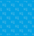 cardiograph pattern seamless blue vector image vector image