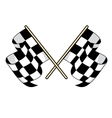 Checkered flags icon for motorsports design vector image vector image