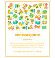 children center banner template with cute baby vector image vector image
