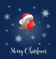 christmas with bullfinch vector image vector image