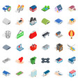 city plant icons set isometric style vector image vector image