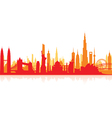 cityscape red flat vector image vector image