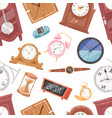 clock watch with clockwork and clockface or vector image