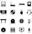 computer equipment icon set vector image