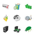 Computer maintenance icons set cartoon style vector image vector image