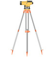 construction level on tripod vector image vector image