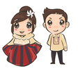 couple wearing Philippines traditional costume vector image