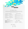 creative simple cv template with polygonal vector image vector image