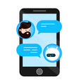 cute smiling chat bot is written off vector image vector image