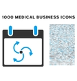 Cyclone Calendar Day Icon With 1000 Medical vector image vector image