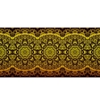 Decorative golden lace stripe pattern on black vector image vector image