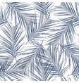 exotic blue bright palm leaves seamless pattern vector image vector image
