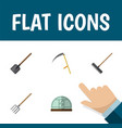 flat icon farm set of shovel cutter hothouse and vector image vector image
