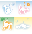 four cats and four seasons vector image