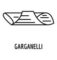 garganelli icon outline style vector image vector image