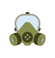 gas mask isolated vector image
