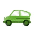 green car transport industry contamination icon ed vector image vector image