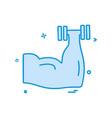 gym icon design vector image vector image