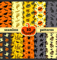 halloween party decorations big seamless patterns vector image vector image