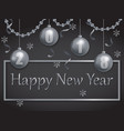 happy new year 2018 silver and black vector image vector image