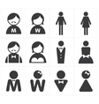 Icon toilet man and woman vector image