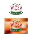 Italian pizza poster vector image
