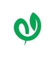 leaf eco swirl sign logo vector image vector image