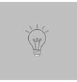 Light lamp computer symbol vector image vector image