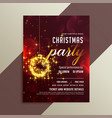 lovely golden sparkles shiny christmas party vector image