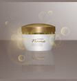 luxury cosmetic template for ads realistic 3d vector image vector image