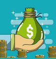 money and investment cartoons vector image vector image