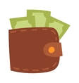 Money wallet vector image vector image