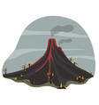 picture of an active volcano vector image
