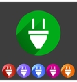 plug power energy icon flat web sign symbol logo vector image