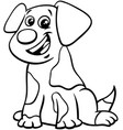 puppy or dog animal character color book vector image vector image