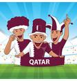 qatar football support vector image vector image