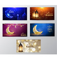 ramadan kareem greeting background vector image vector image