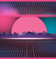 retro neon background design vector image vector image