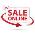 sale online arrow sign set vector image vector image