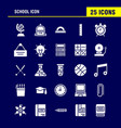 school icon solid glyph icon pack for designers vector image vector image