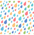 seamless pattern of colourful raindrops vector image vector image
