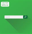 search bar field icon business concept interface vector image vector image