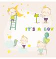 set cute baboy - for bashower vector image vector image
