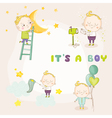 Set of Cute Baby Boy - for Baby Shower vector image vector image