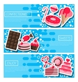 Set of Horizontal Banners about confectionery vector image vector image