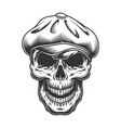 skull in the tweed hat vector image vector image
