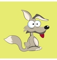 Stock funny fox with bulging eyes eps vector image vector image