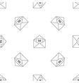 tax email pattern seamless vector image vector image